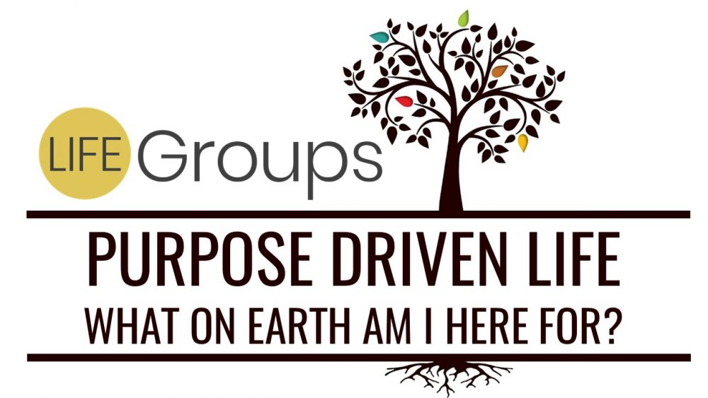 New LIFEGroup Purpose Driven Life: What On Earth Am I Here For?